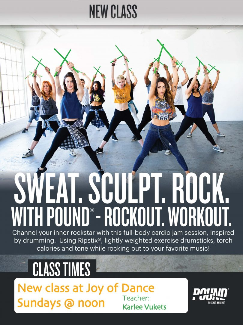 Rock Out With Pound Free Class Oct 23